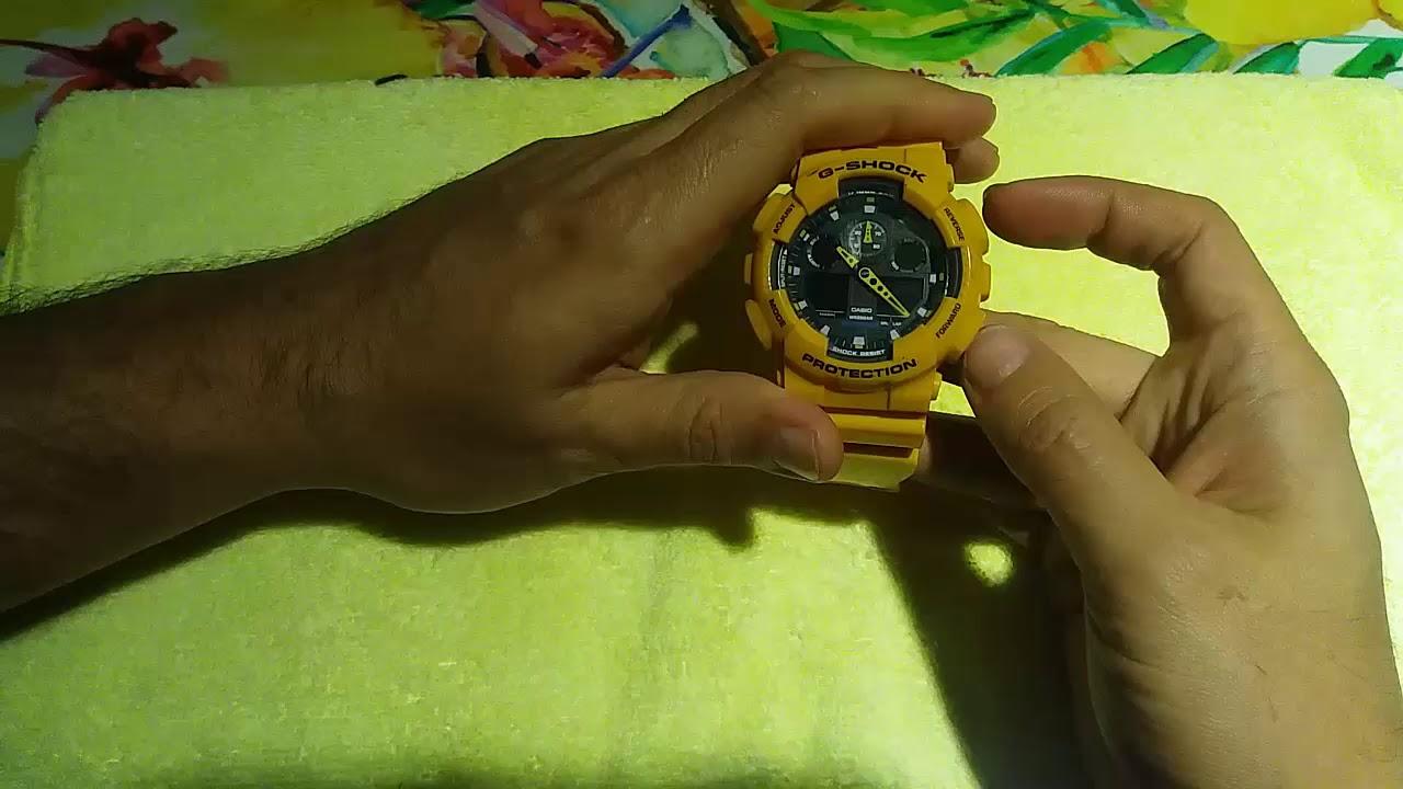 Y De G 100 Shock Hora Casio Manecillas 5081 Digital Ga Ajuste b7yf6gY