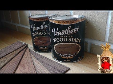 Тонировка древесины краской Varathane Wood Stain. Покраска дерева маслом