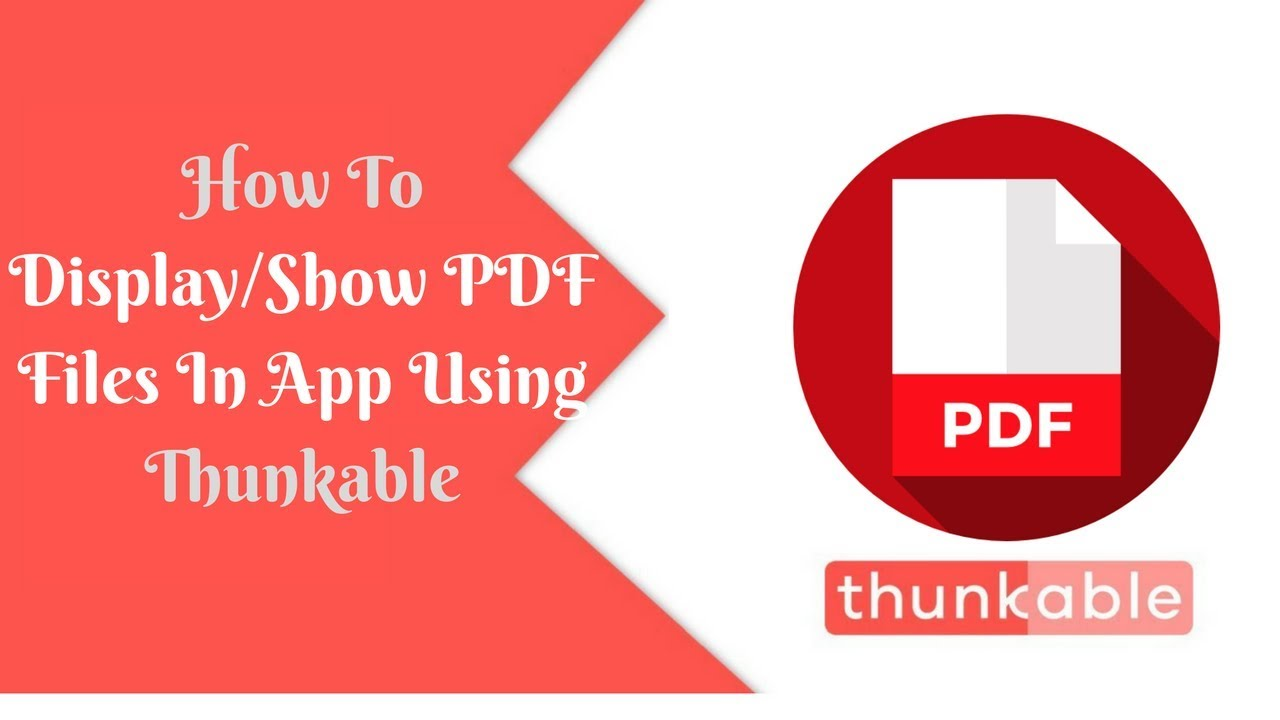 How To Display/Show PDF Files In App Using Thunkable || PDF files Thunkable