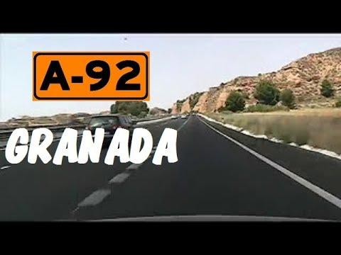 A-92 Granada , Autovía Sevilla - Almería , Zona de Guadix /  Granada Province - Highways in Spain
