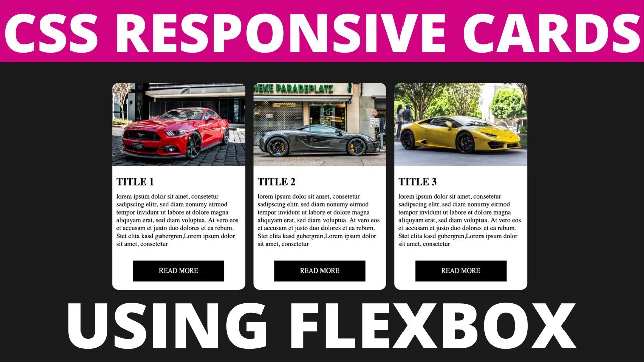 CSS Responsive Card & Hover Effects with Flexbox |HTML CSS3 Tutorials 2021