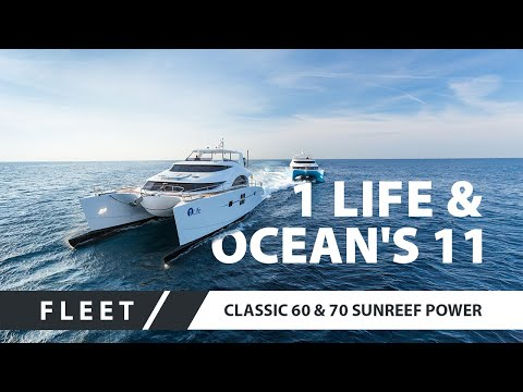 Power Catamarans 60 Sunreef Power Ocean`s 11 and 70 Sunreef Power 1 Life together in Cannes