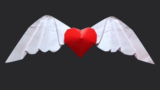 3D Heart: Origami Angel Heart 2.0 (Wing Heart ) by PaperPh2