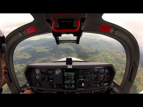 Test Flight Grob G120TP Turboprop (GoPro Hero)