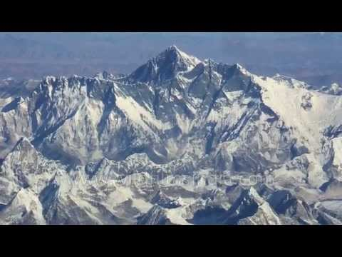 Lovely aerial view of Mt. Everest