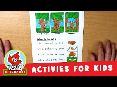 Prepositions Activity for Kids   Maple Leaf Learning Playhouse