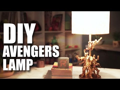How to make a DIY Avengers Lamp