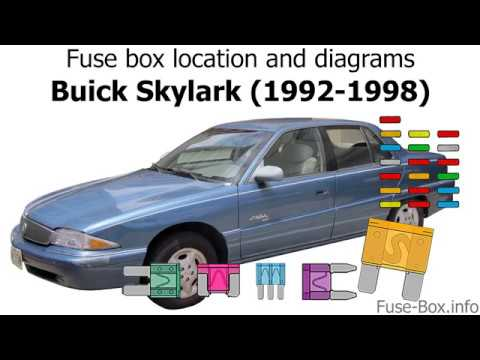 Fuse box location and diagrams: Buick Skylark (1992-1998) - YouTubeYouTube