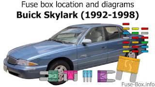 Fuse Box Location And Diagrams Buick Skylark 1992 1998 Youtube