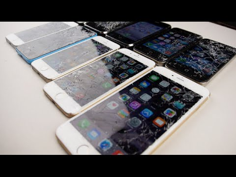 iPhone 6 Plus vs 6 vs 5S vs 5C vs 5 vs 4S vs 4 vs 3GS vs 3G vs 2G Drop Test!