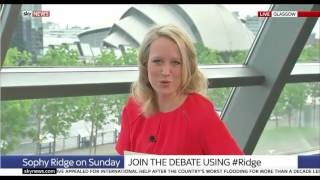Sophy Ridge refers to Kezia Dugdale as the leader of 'Scottish Labia'