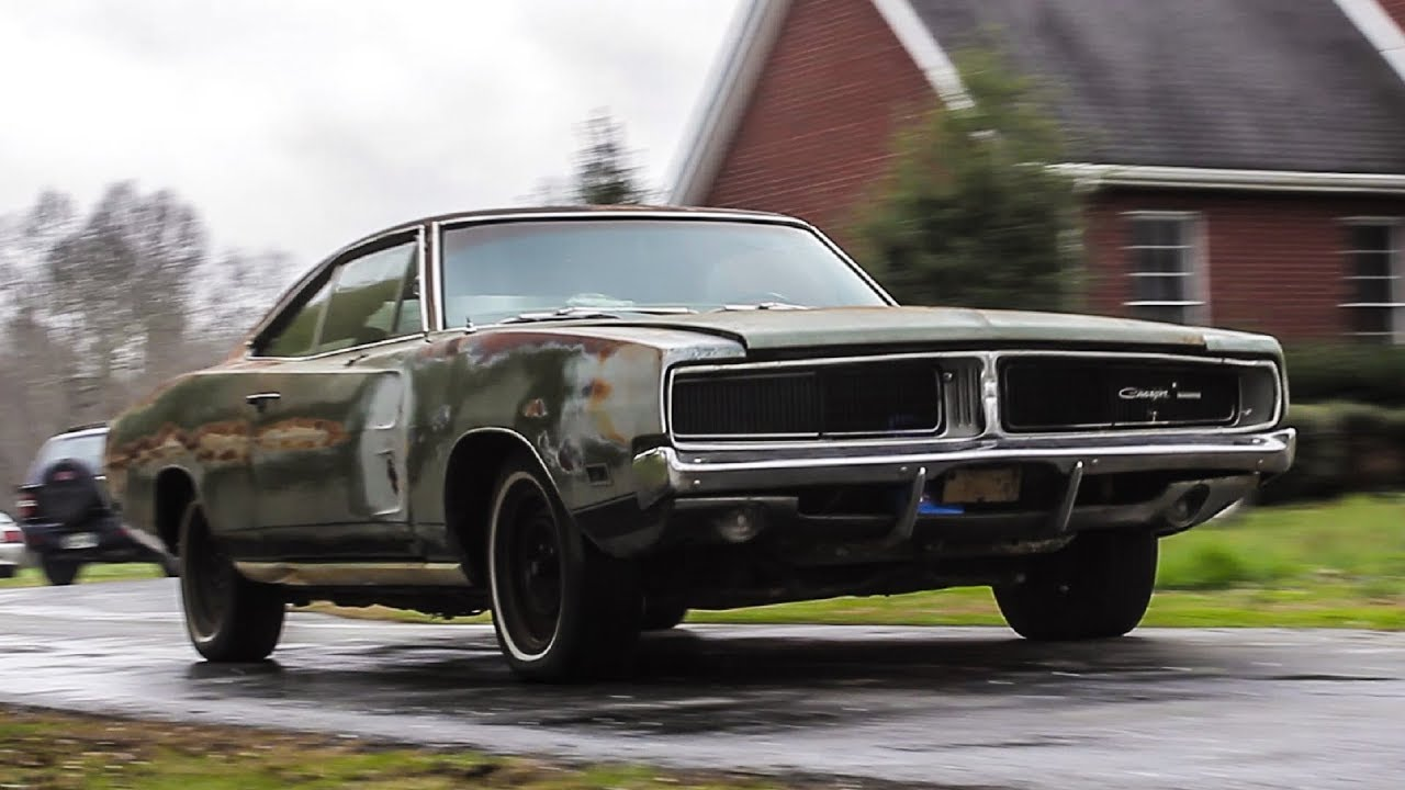 ABANDONED 1969 Dodge Charger Drives After 34 Years