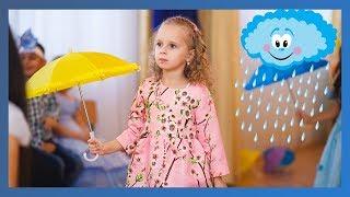 """Осенний утренник в детском саду Танец с зонтиками """"Кап-кап-кап..."""""""