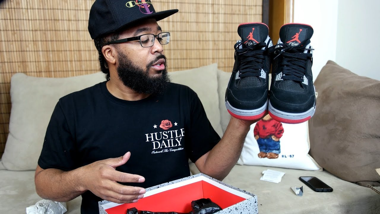 6468690f07bb94 EARLY FIRST LOOK  AIR JORDAN 4 BRED RETURNS IN 2019 - YouTube