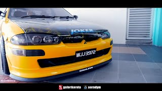 Proton Wira Modified Body Kit - Joker Decals at Negeri Sembilan International Autosalon...