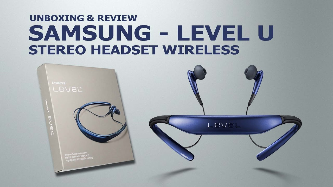 Samsung level u pro wireless headphones: ultra high quality audio technology; noise cancellation; built-in microphone; splash and sweat-resistant; around-the-neck design.