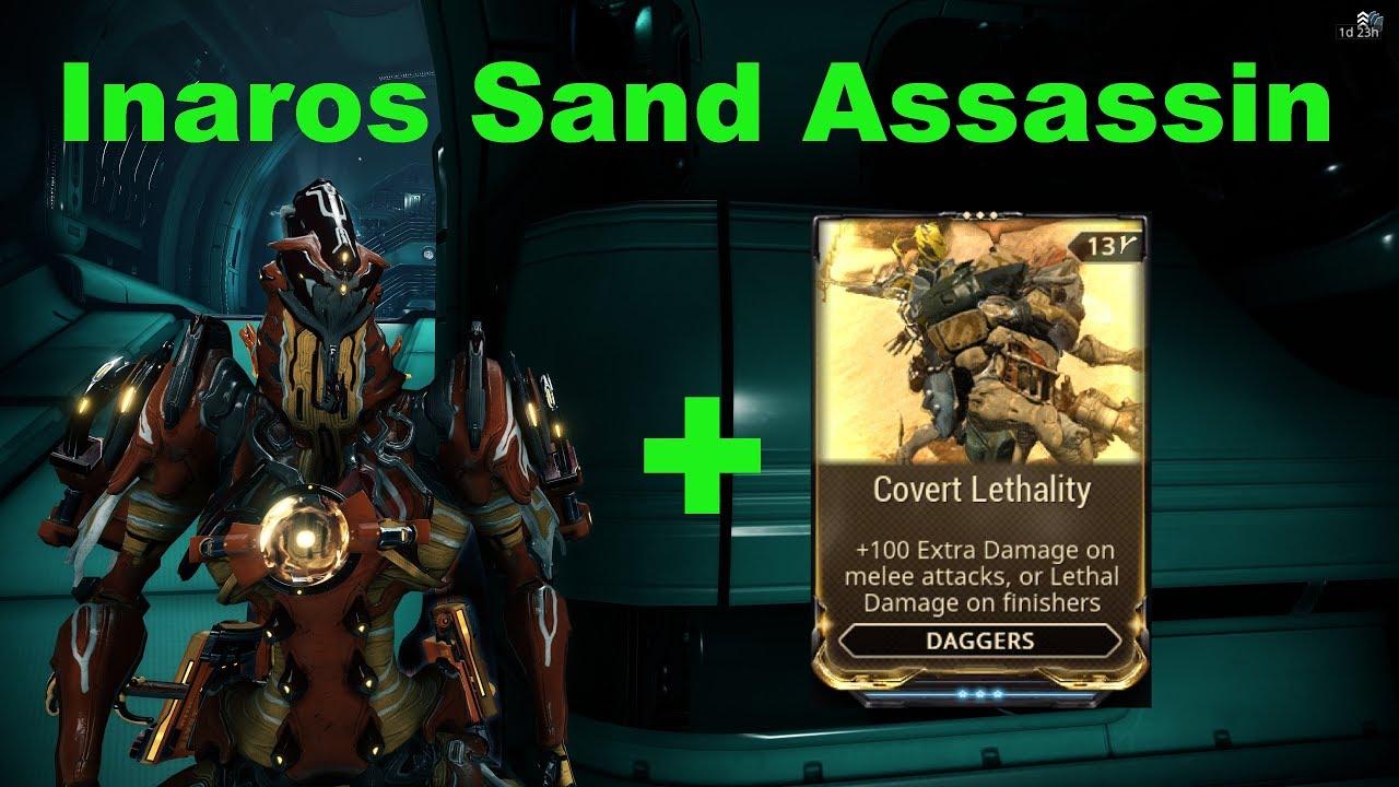 Inaros Sand Assassin Build Warframe Youtube