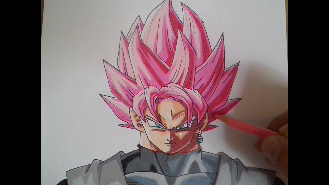 Black Goku Para Colorear: COMO DIBUJAR A GOKU BLACK ROSE / How To Draw Goku Black