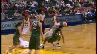 WNBA Seattle Storm vs Indiana Fever - June 9, 2009 - Katie Douglas Injury