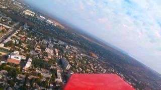 Полет над набережной Бердянска беспилотник №6 (радиуправл. параплан)