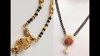 Latest Simple Black Beads Chains Designs / Fashion Jewellery for women