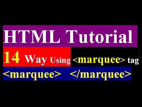 how to use marquee tag in html - 14 way used marquee tag