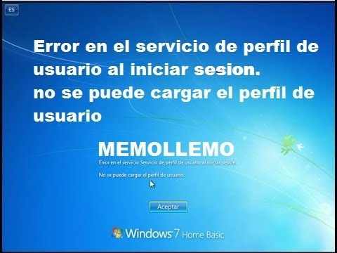 Solución a Error en el servicio de perfil de usuario al iniciar sesion windows