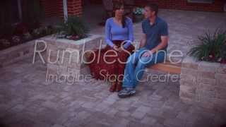 Pavestone Rumblestone™ Bench Planter