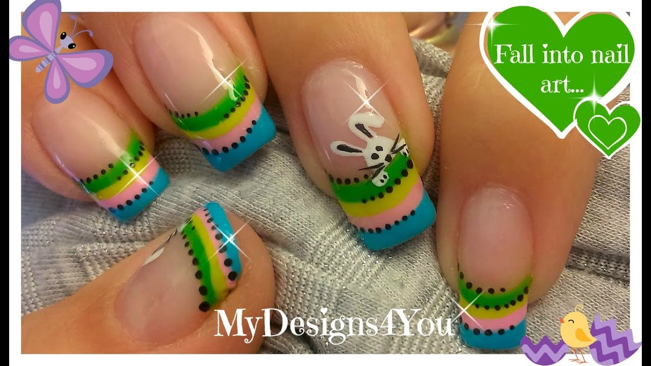 easter nail art cute easter bunny youtube