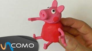 Hacer a Peppa Pig con plastilina