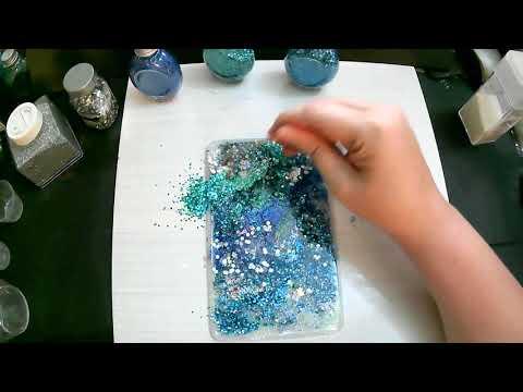 Blue Resin Notebook Cover DIY