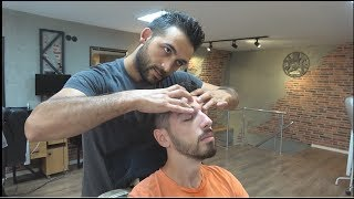 ASMR Turkish Barber Face, Head and Body Massage with Facial Care 300