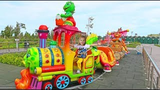 Fun Indoor Playground with Colorfull Train for Kids and Family
