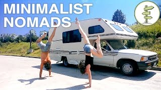 Repeat youtube video Extreme Minimalist Nomads Living in a Tiny RV