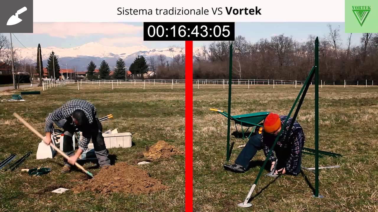 Vortek supporti per pali per recinzioni youtube for Vortek recinzioni