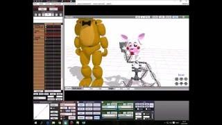 Golden Freddy X Mangle Animatronic Version Photo DL