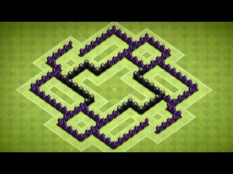 Clash Of Clans -  Epic Town Hall 6 Trophy Base (The Pseudo) Speed Build - 2014