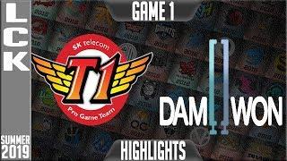 SKT vs DWG Highlights Game 1 | LCK Summer 2019 Week 3 Day 1 | SK Telecom T1 vs Damwon Gaming
