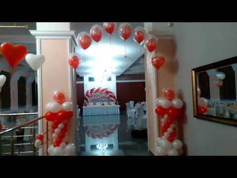 Украшение шарами свадьбы в Ресторане Ricetta в Ставрополе