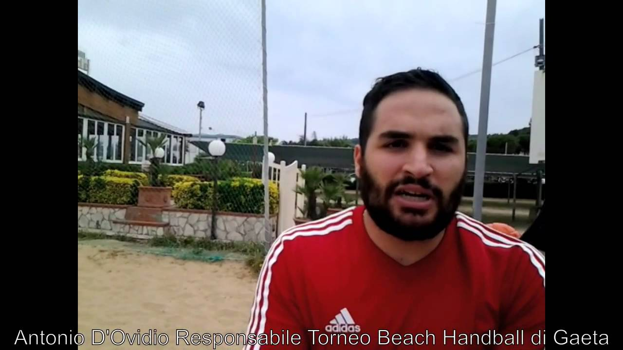 Antonio D'Ovidio sul Beach Handball Gaeta - YouTube
