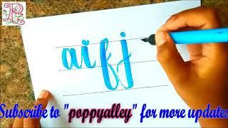 Best calligraphy lettering    How To write Calligraphy & Hand Lettering for Beginners    poppyalley