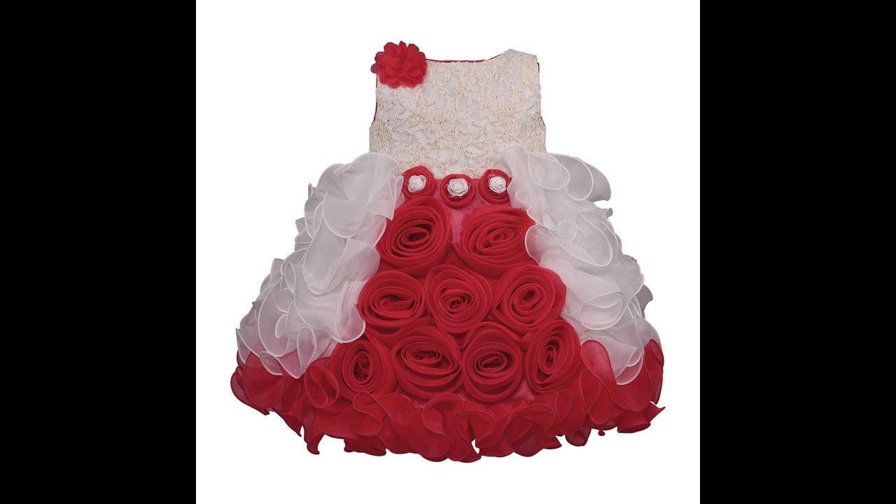 5e19c214c9bfe Wish Karo Baby Girls Party Wear Frock Dress - YouTube