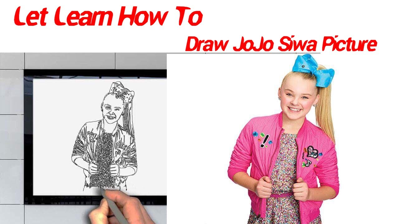Learn how to draw jojo siwa picture