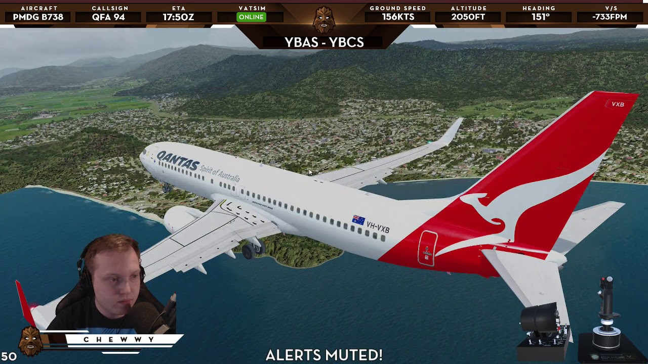 [P3D v4 2] RNP Approach into Cairns | Qantas Boeing 737 at YBCS