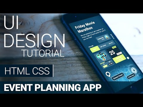 UI Design Tutorial - Event Planning App | HTML CSS Speed Coding