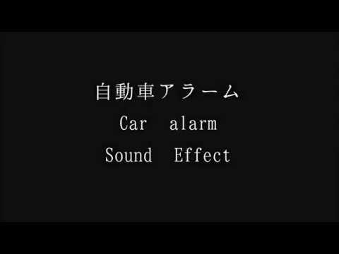 【フリーな音楽素材】自動車アラーム Car alarm Sound Effect