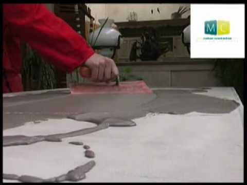 B ton cir sur table ancienne polished concrete on an old table video desi - Faire une table en beton cire ...
