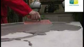 beton cire sur table ancienne polished concrete on an old table video design