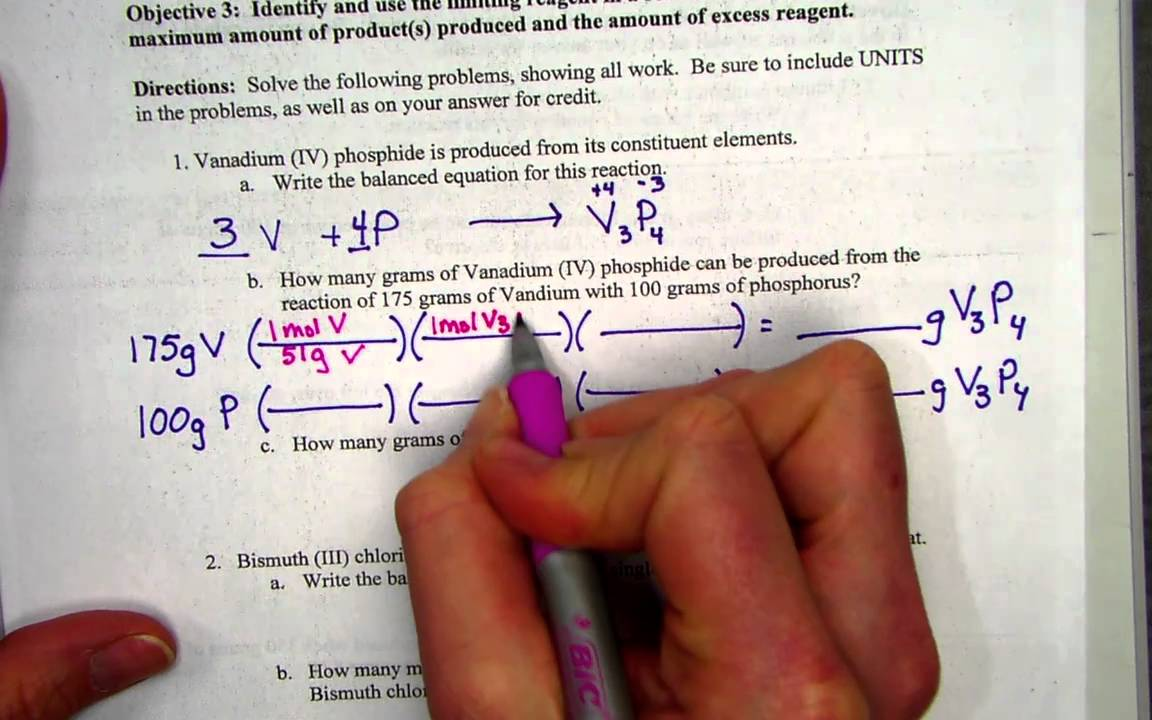 limiting reagents worksheet part 1 YouTube – Limiting Reactant Problems Worksheet