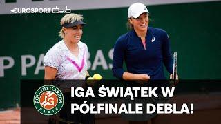 Iga Świątek i Bethanie Mattek-Sands w PÓŁFINALE debla Roland Garros!